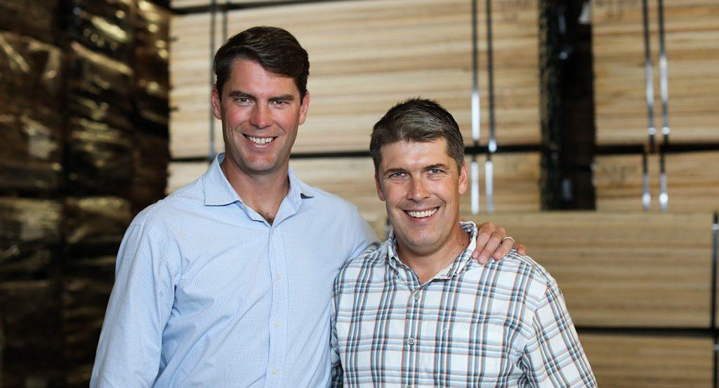 Russ McIlvain and Baird McIlvain of TBM Hardwoods Lumber Company
