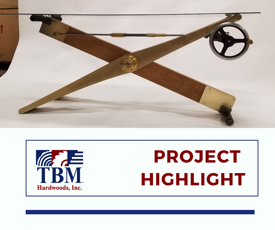 TBM Project Highlight Hardwood Desk